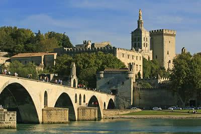 Avignon palais des papes pont d'avignon